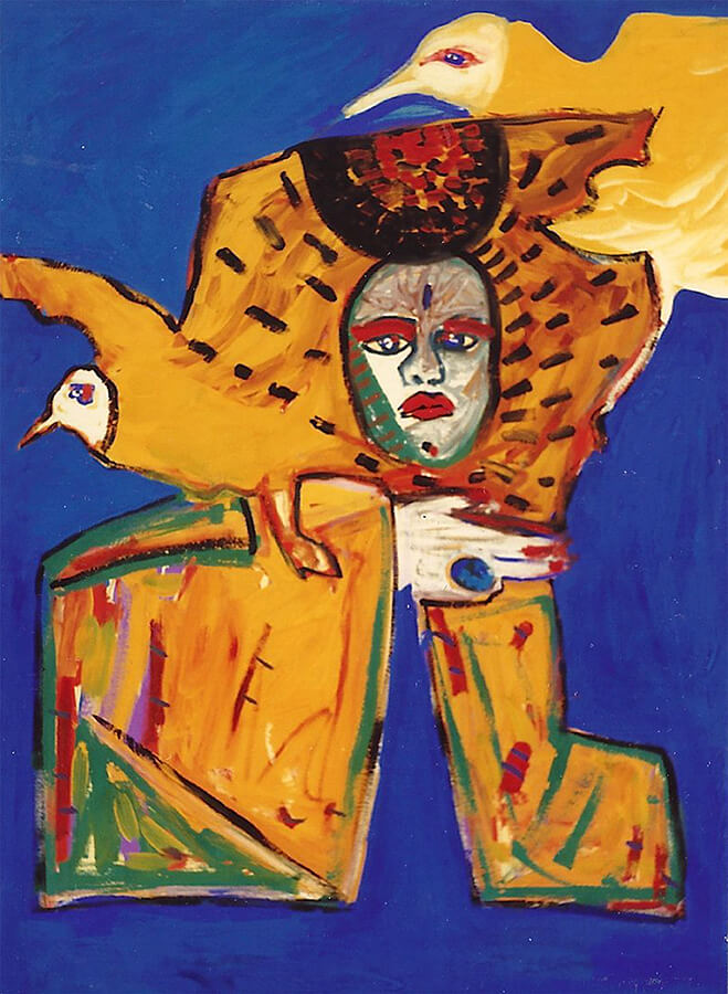 5D nr 147 The Moon Goddess, gouache, 70 x 100 cm, 1986