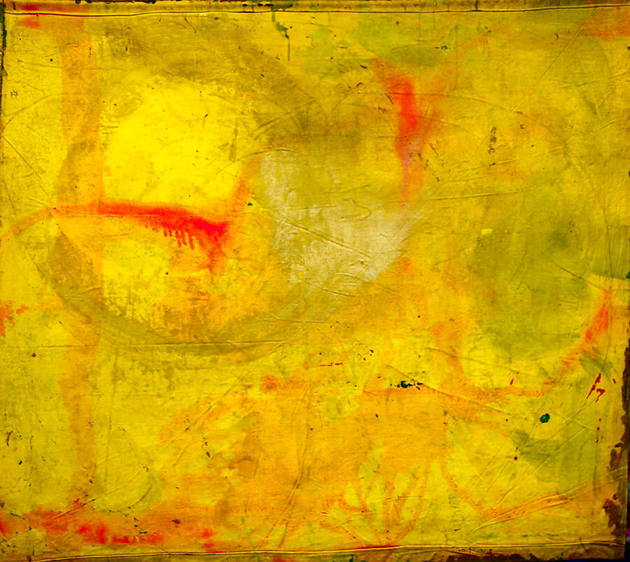 5D nr 325 Compass of Trust, recto, acrylic on 2 sides painted unframed canvas, 150 x 150 cm, 2002