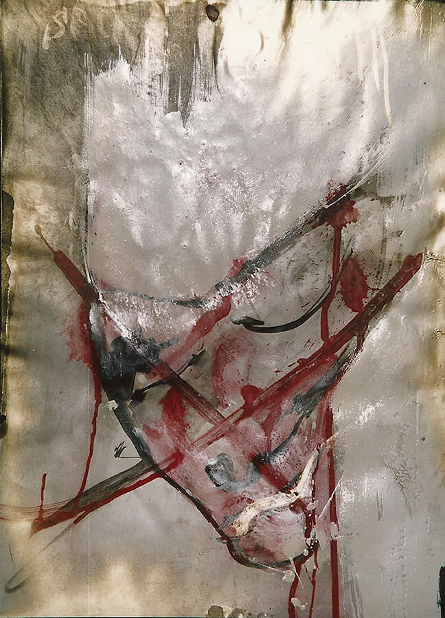 Transmutation II, mixed media on paper, 60 x 80 cm, 1979